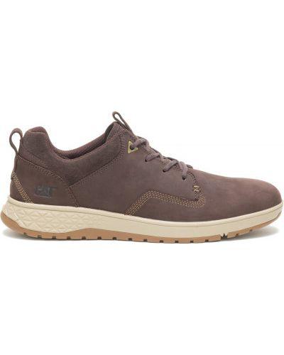 Коричневые кожаные ботинки Caterpillar