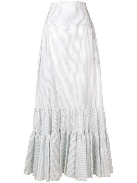 Beżowa spódnica maxi z wysokim stanem z jedwabiu Calvin Klein 205w39nyc