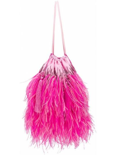 Różowa torebka skórzana Attico