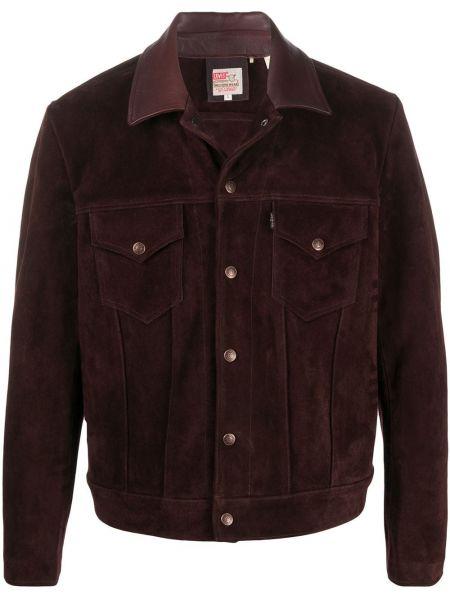 Кожаная красная куртка винтажная Levi's Vintage Clothing