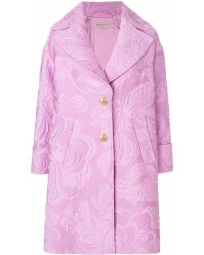 Шерстяное розовое длинное пальто с капюшоном Emilio Pucci