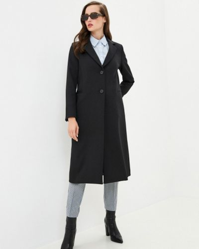 Черное пальто United Colors Of Benetton