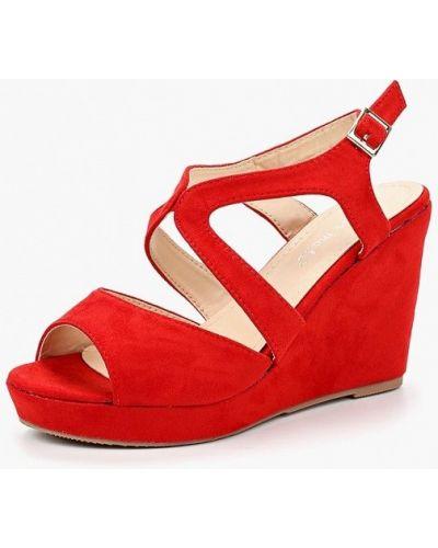 Красные босоножки на каблуке Super Mode