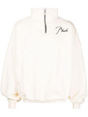 Biały pulower z długimi rękawami bawełniany Rhude