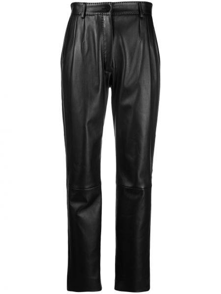 Кожаные брюки - черные Dolce & Gabbana
