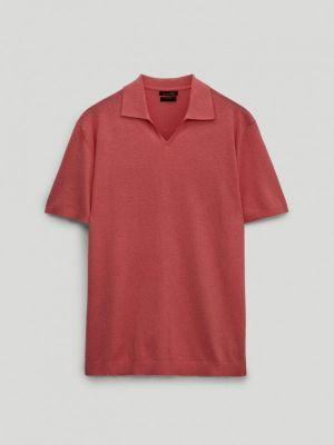 Красное поло с короткими рукавами Massimo Dutti