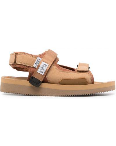 Коричневые сандалии Suicoke