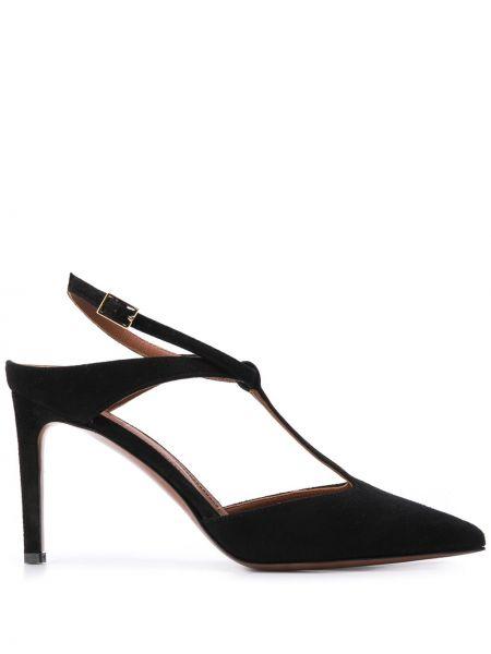 Брендовые замшевые туфли-лодочки на каблуке L'autre Chose