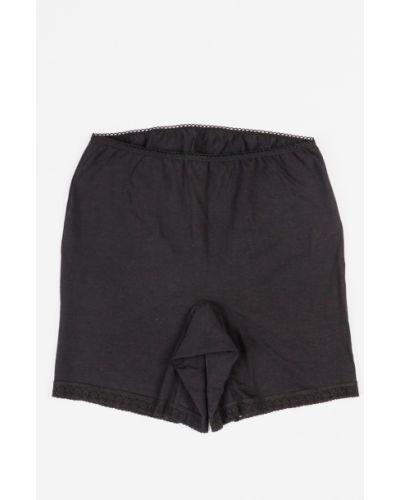 Высокие трусы черные панталоны Lacywear