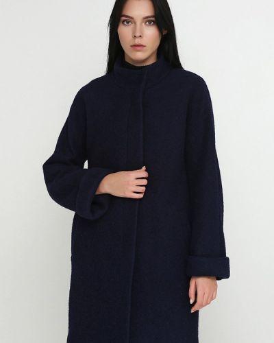 Синее пальто с капюшоном Florens