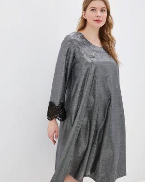 Вечернее платье осеннее серебряный Prewoman