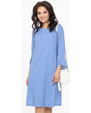 Повседневное с рукавами шифоновое летнее платье с оборками Dstrend