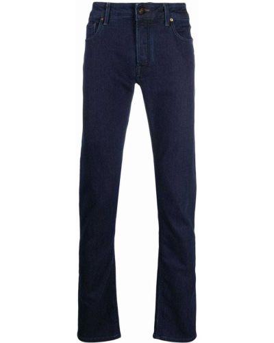 Niebieskie klasyczne mom jeans Hand Picked