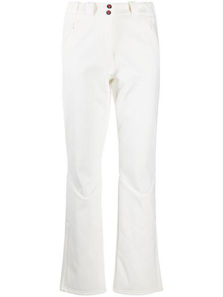 Расклешенные белые горнолыжные брюки на кнопках Vuarnet