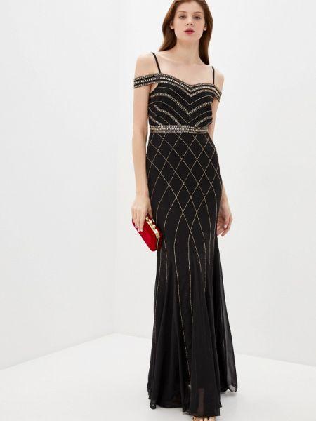 Черное вечернее платье Goddiva