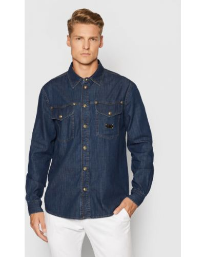 Koszula jeansowa - granatowa Versace Jeans Couture