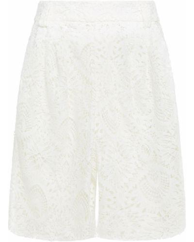 Белые шорты с карманами на шнурках Sara Battaglia