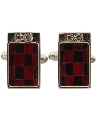 Czerwone spinki do mankietów Dolce And Gabbana