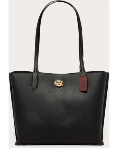 Czarna torebka duża skórzana Coach