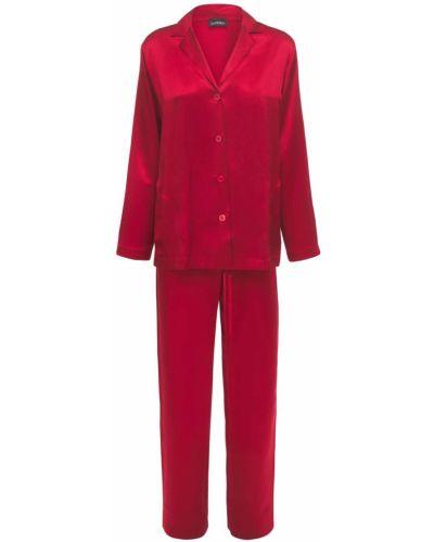 Шелковая пижама - красная La Perla