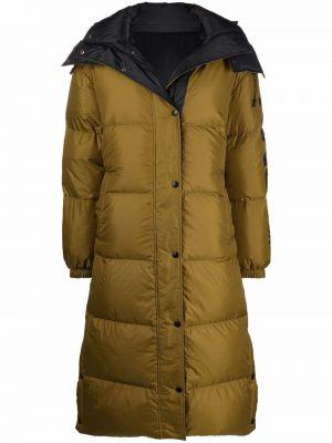 Желтое пальто с перьями Yves Salomon