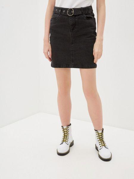Джинсовая юбка черная весенняя B.young