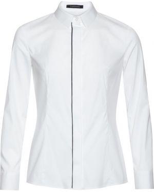 Блузка с длинным рукавом приталенная белая Vassa&co