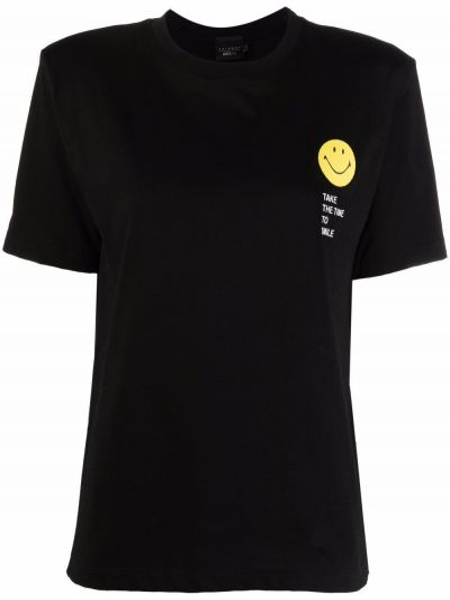 Czarna koszulka z printem Joshua Sanders