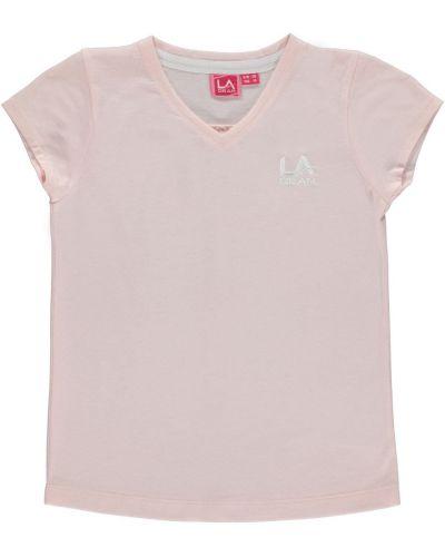 Koszula krótki rękaw bawełniana z haftem La Gear
