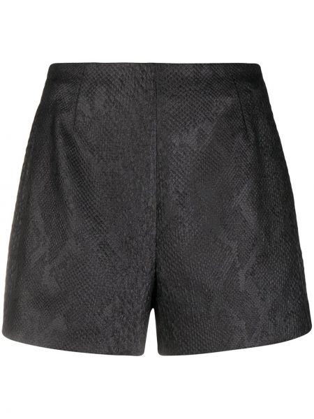 Хлопковые черные с завышенной талией шорты Roberto Cavalli