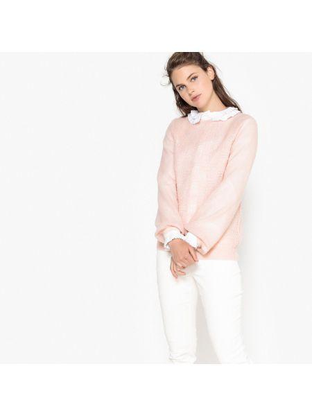 Ажурный пуловер длинный шерстяной Mademoiselle R