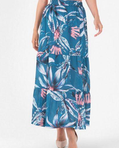 Синяя юбка осенняя Lo