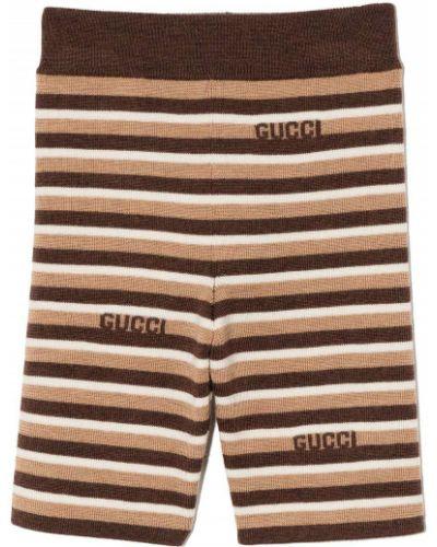 Białe szorty wełniane Gucci Kids