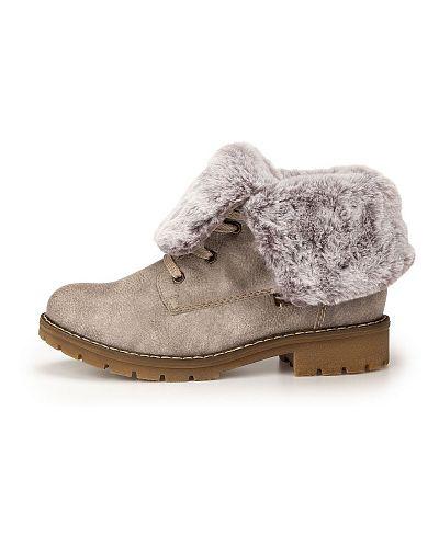 Серые ботинки Rieker