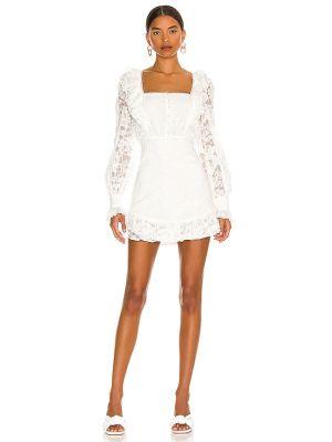 Кружевное платье мини - белое Majorelle