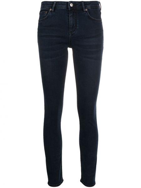 Bawełna czarny zawężony jeansy do kostek z kieszeniami Acne Studios
