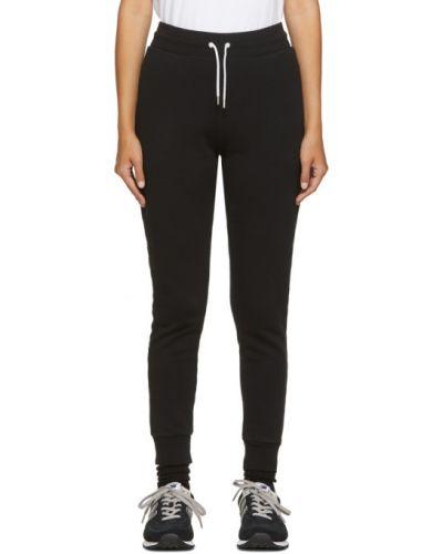 Черные классические брюки с вышивкой с карманами с манжетами Maison Kitsuné