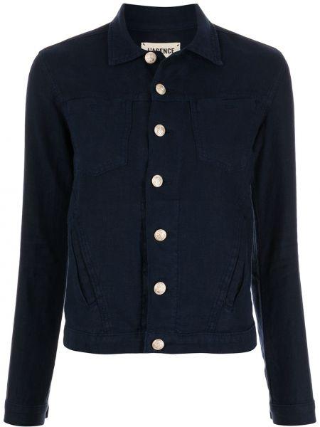 Синяя классическая рубашка с длинными рукавами с воротником L'agence