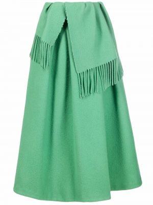 Шерстяная юбка - зеленая Christian Wijnants