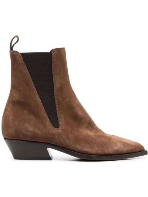 Кожаные ботинки челси - коричневые Officine Creative