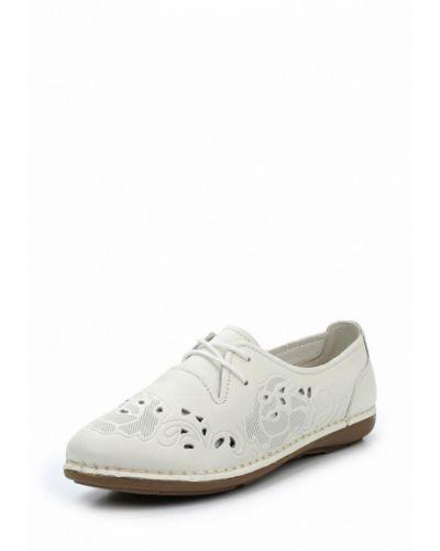 Белые кожаные ботинки La Grandezza