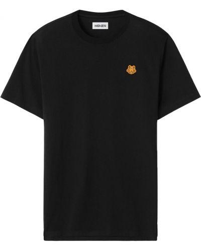 T-shirt z printem - czarna Kenzo