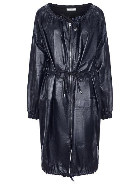 Длинный плащ кожаный с поясом Céline