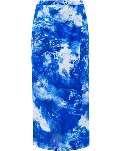 Зауженная юбка макси - голубая Alexander Terekhov