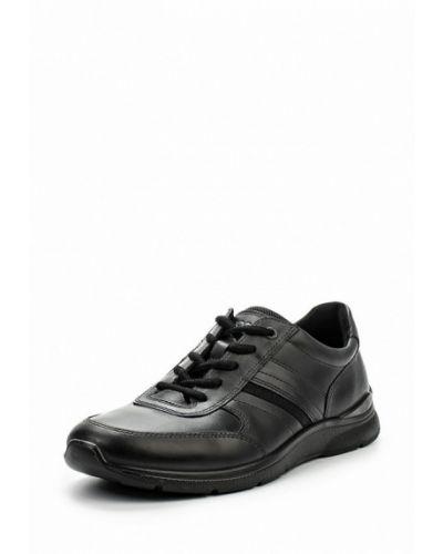 Черные кроссовки из нубука Ecco