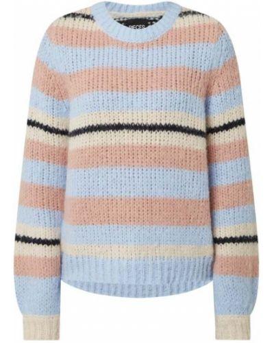Niebieski sweter w paski Pieces