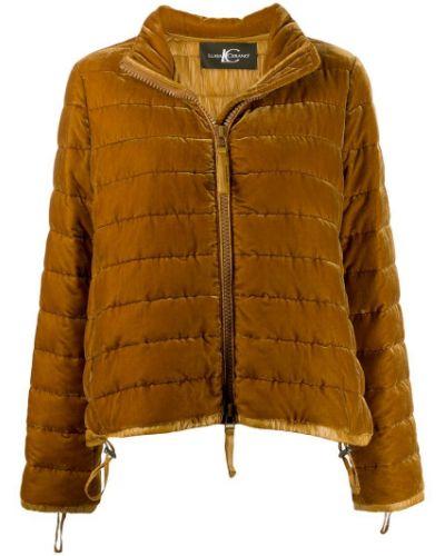 Стеганая куртка бархатная на молнии Luisa Cerano