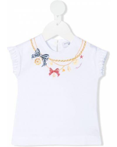 Biały t-shirt bawełniany Monnalisa