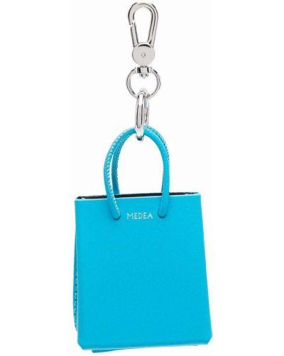 Niebieska torebka skórzana Medea