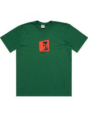 Футболка с принтом - зеленая Supreme